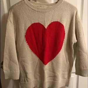 Loft HEART sweater